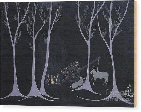 Night Halt Wood Print