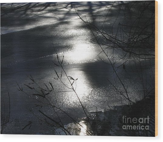 Night Lake Wood Print