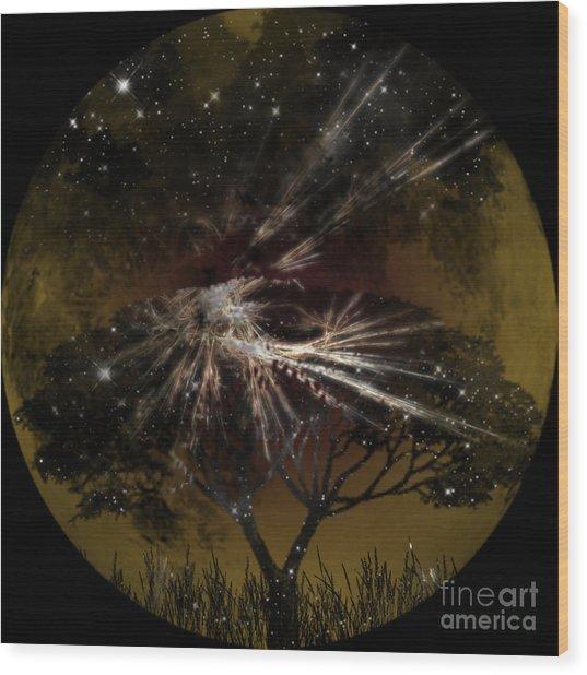 Nightscape Wood Print