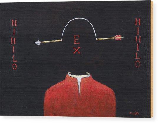 Nihilo Ex Nihilo Wood Print by Canis Canon
