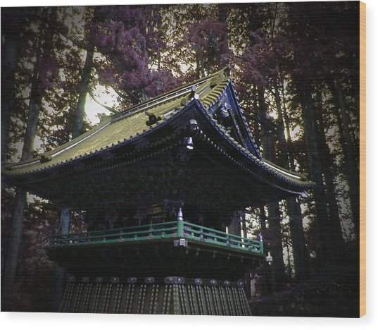 Nikko Architectural Detail Wood Print by Naxart Studio