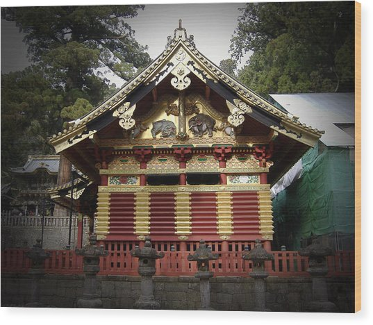 Nikko Architecture With Gold Roof Wood Print