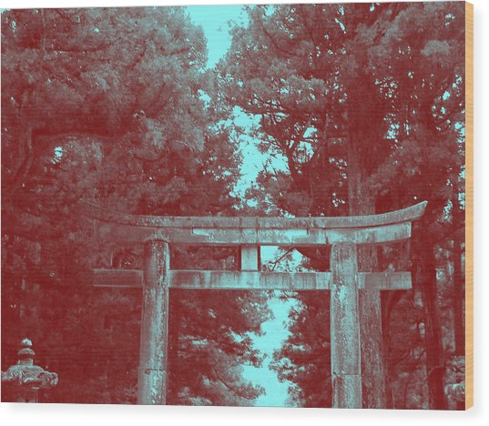 Nikko Gate Wood Print