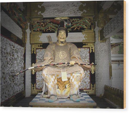 Nikko Golden Sculpture Front Wood Print