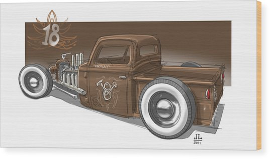 No.18 Wood Print