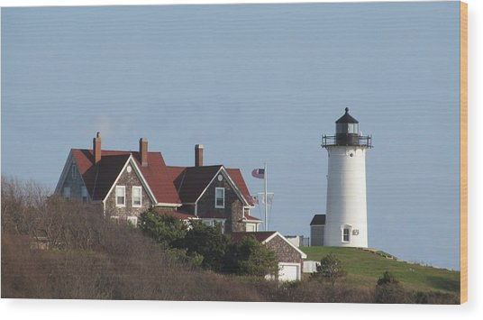 Nobska Lighthouse Cape Cod Wood Print