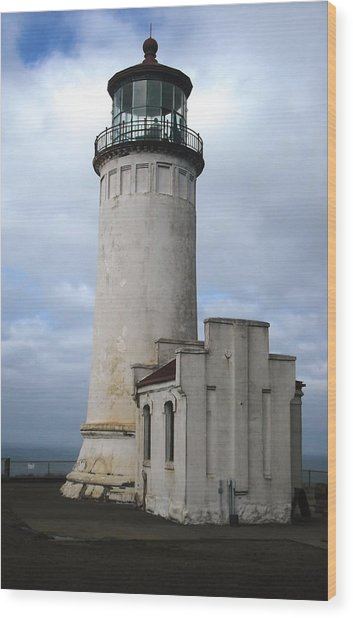 Northhead Lighthouse At Cape Disappointment  Wood Print