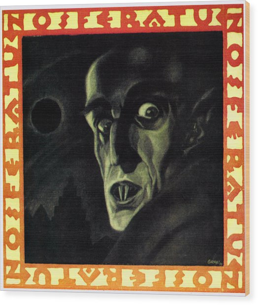 Nosferatu, Max Schreck, 1922 Wood Print by Everett