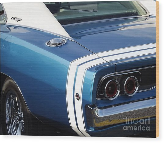Nothing But The Tail Lights Wood Print by Chad Thompson