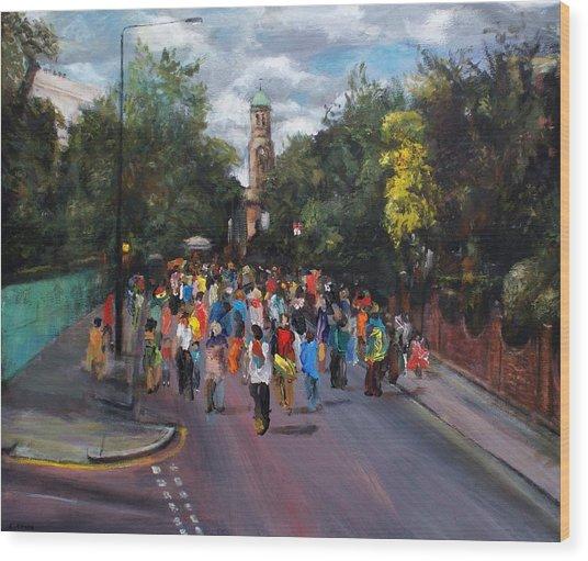 Notting Hill Carnival Wood Print by Edward Ofosu