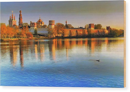 Novodevichy Convent Wood Print