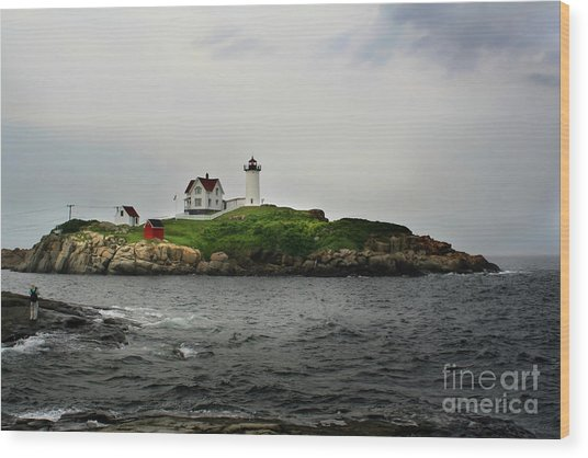 Nubble Light Wood Print