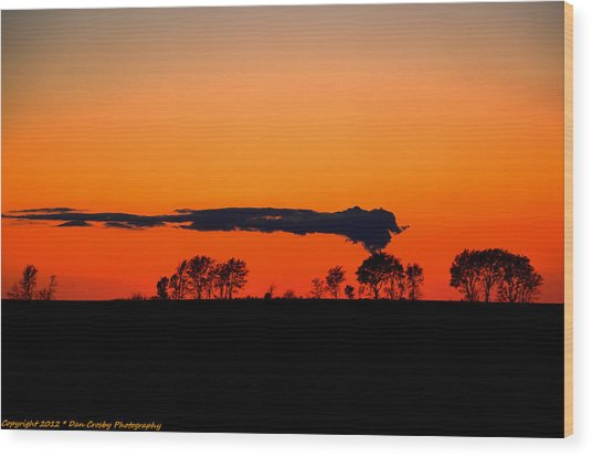 Nuclear Clouds Wood Print by Dan Crosby