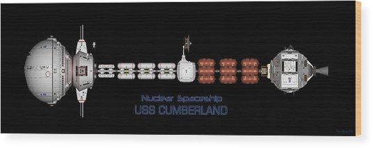 Nuclear Spaceship Uss Cumberland Wood Print