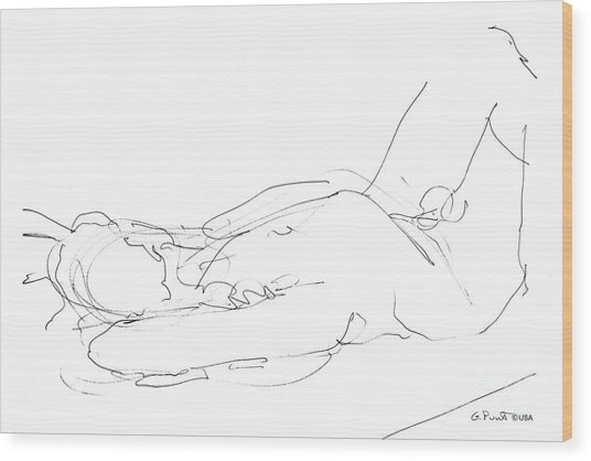 Nude-male-drawings-12 Wood Print