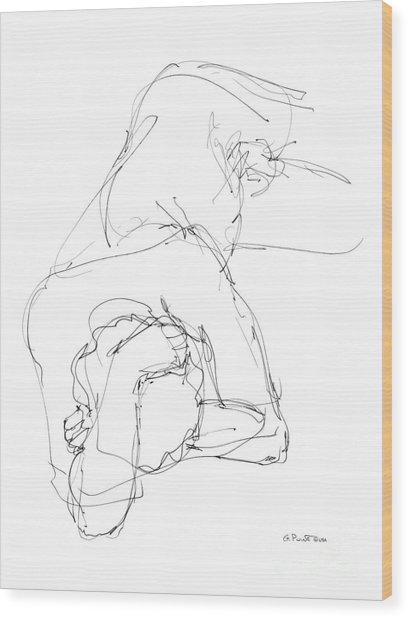 Nude Male Drawings 7 Wood Print