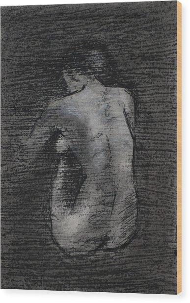 Nude Study....miniature Wood Print