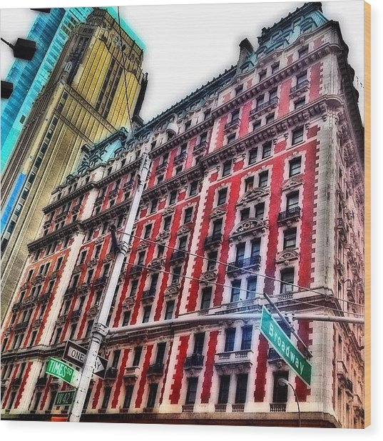 #ny #newyorker #architecture #broadway Wood Print