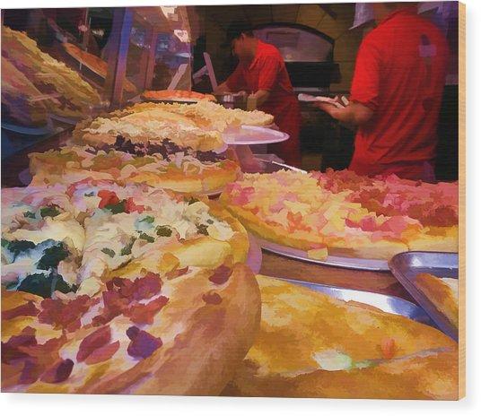 Ny Pizza Wood Print
