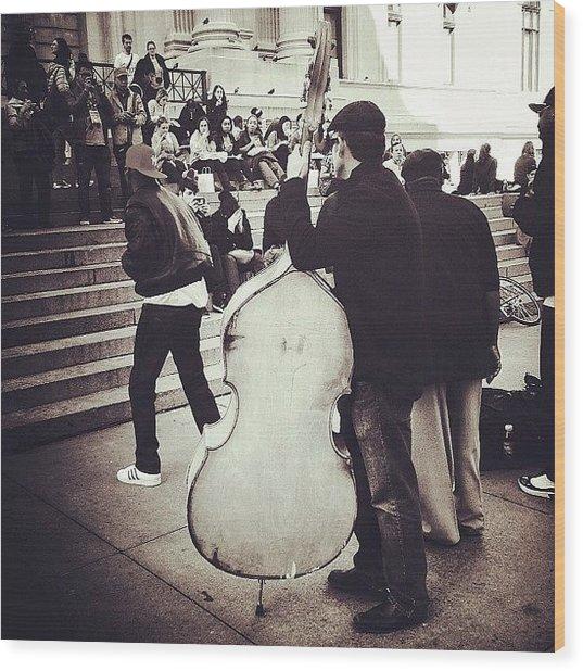 #nyc #ny #manhattan #newyork #cello Wood Print