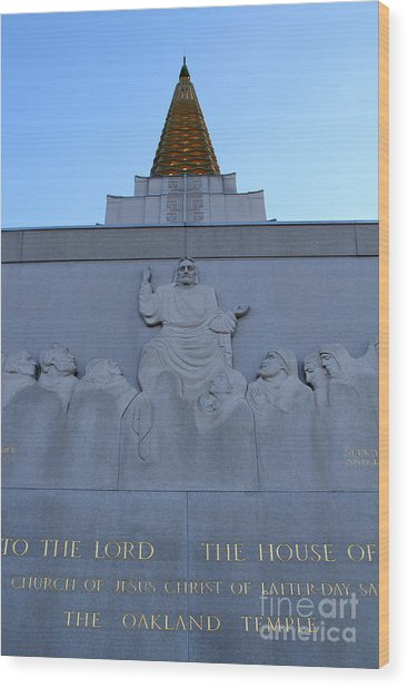 Oakland California Temple . The Church Of Jesus Christ Of Latter-day Saints . 7d11333 Wood Print by Wingsdomain Art and Photography