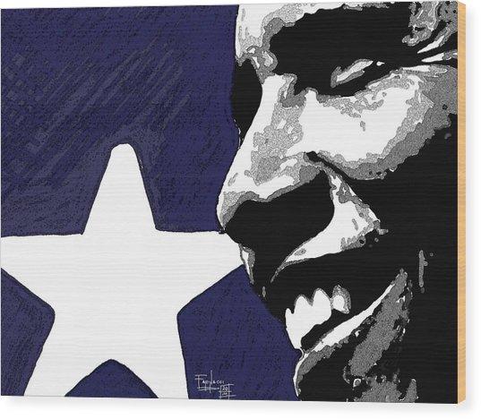 Obama Wood Print by Patrizio Farinacci