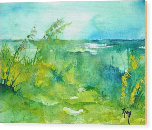 Ocean And Shore Wood Print