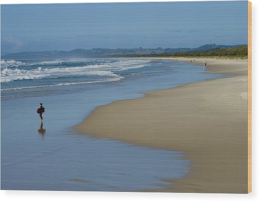 Ocean Beach Wood Print by Greg Elms