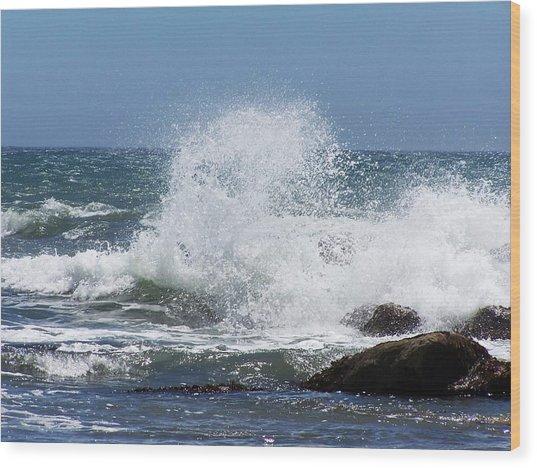 Ocean Blast Wood Print
