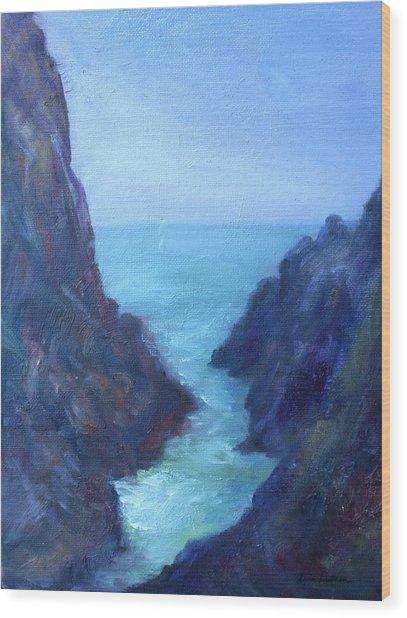 Ocean Chasm Wood Print