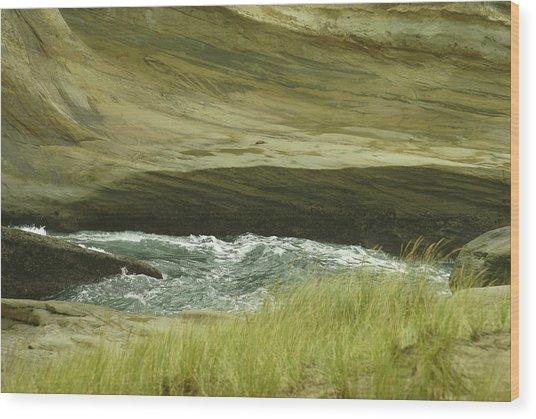 Ocean Dunes Wood Print