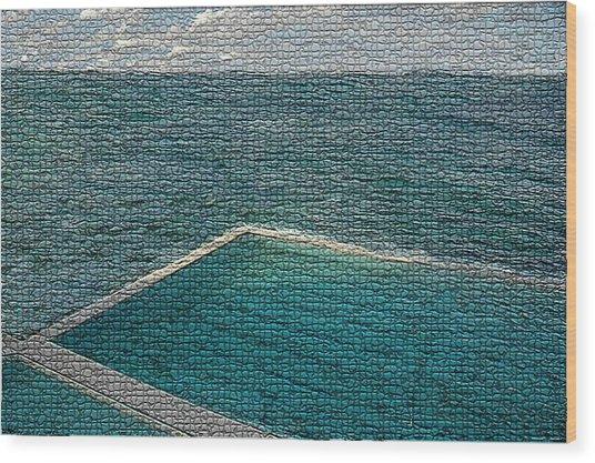 Ocean Pool Wood Print