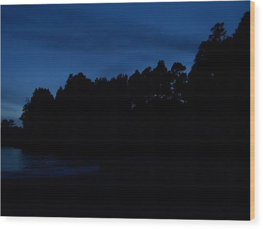 Ocean Twilight Wood Print