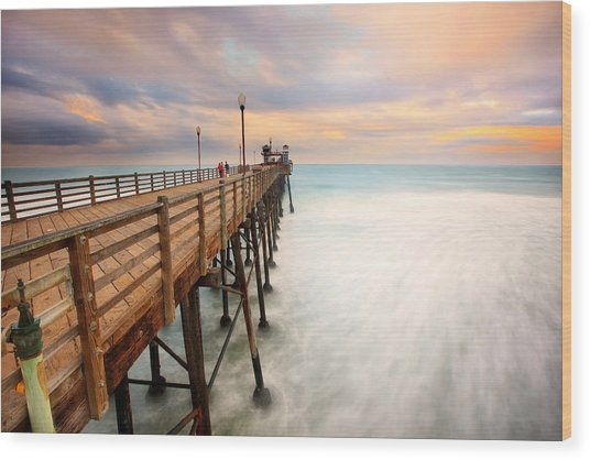 Oceanside Sunset 5 Wood Print