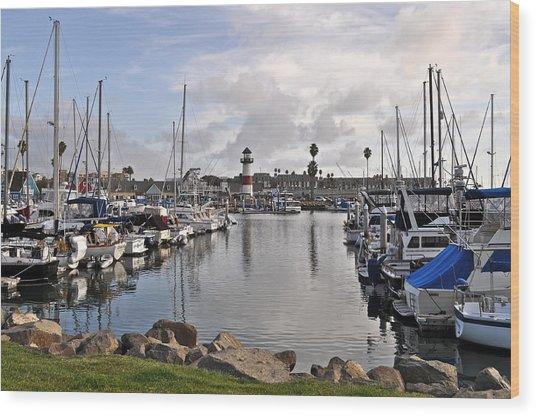Oceaside Harbor Wood Print