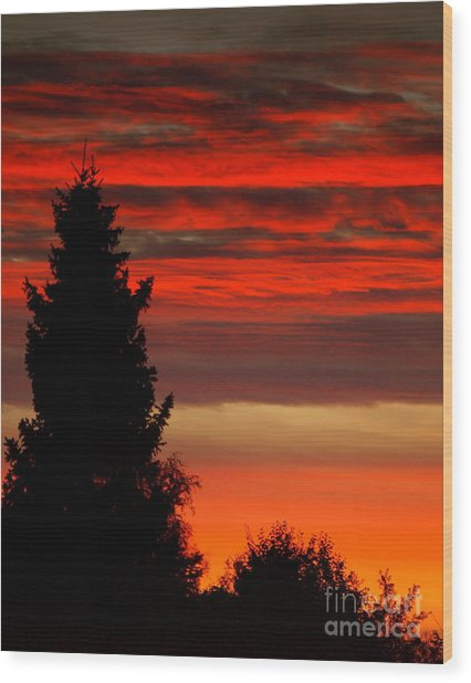 October Sky 4 Wood Print