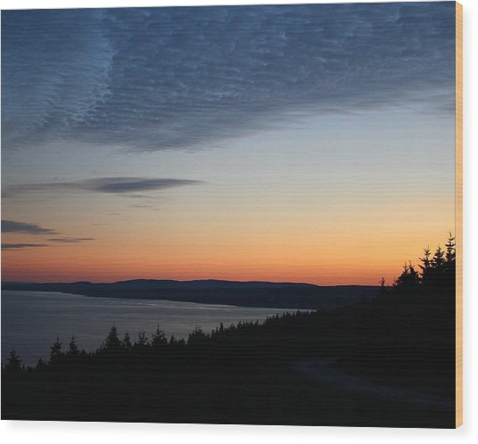 October Summers 610 Wood Print