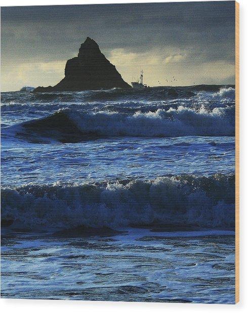 Off Arch Cape Wood Print