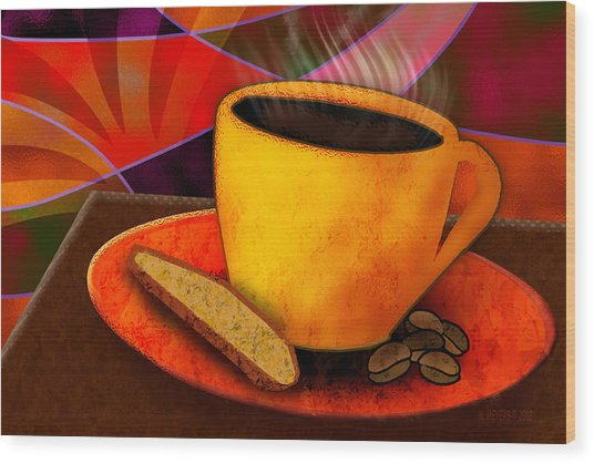 Ohhh.. Coffee Wood Print by Melisa Meyers