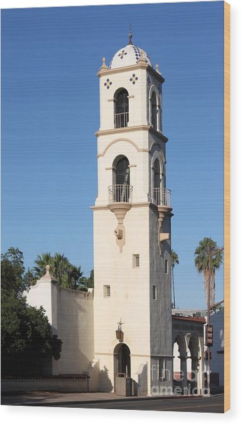 Ojai Post Office Tower Wood Print