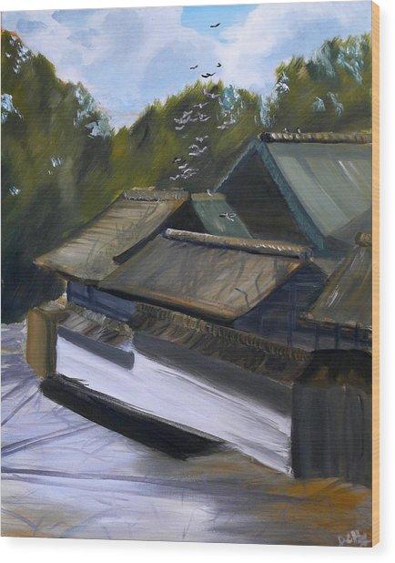 Okazaki Castle Wood Print by Janice Harvey