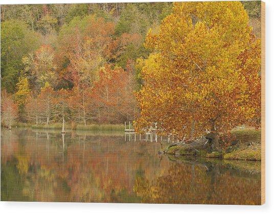 Oklahoma Autumn Wood Print