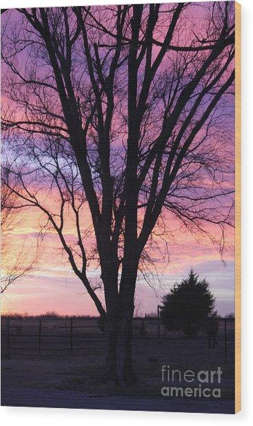 Oklahoma Sunset 2 Wood Print