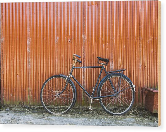 Old Bike Wood Print