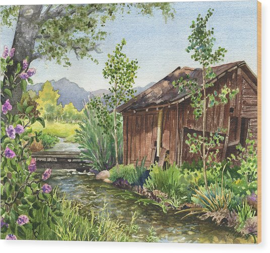 Old Braley Barn Wood Print