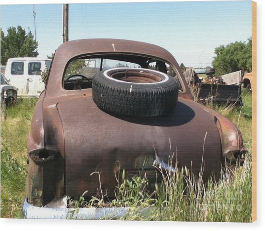 Old Car Wood Print by Bobbylee Farrier