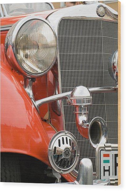 Old Car Detail Wood Print by Odon Czintos