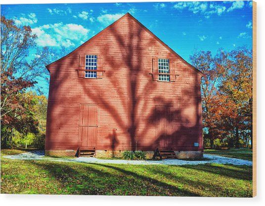 Old Christ Church Wood Print by Kelly Reber