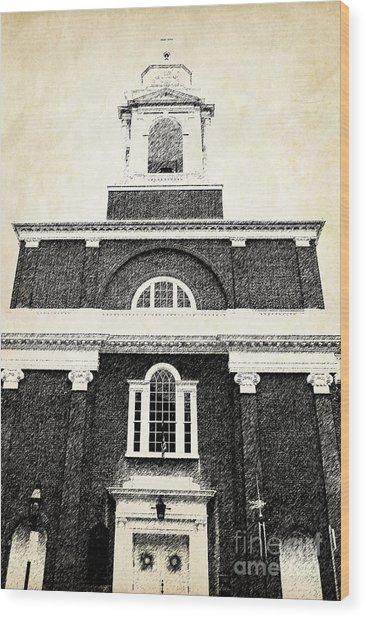 Old Church In Boston Wood Print