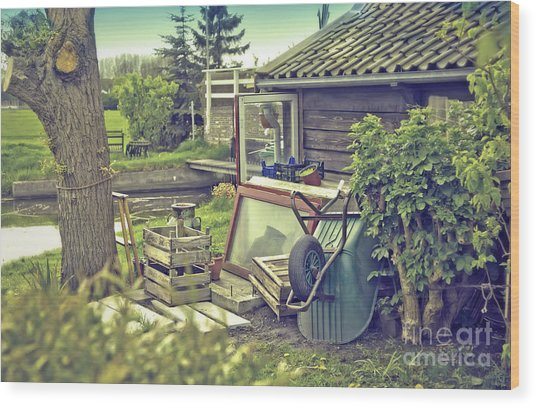 Old Country House Wood Print